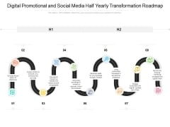 Digital Promotional And Social Media Half Yearly Transformation Roadmap Pictures