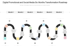 Digital Promotional And Social Media Six Months Transformation Roadmap Formats