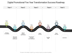 Digital Promotional Five Year Transformation Success Roadmap Mockup