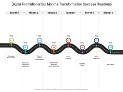 Digital Promotional Six Months Transformation Success Roadmap Template