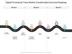 Digital Promotional Three Months Transformation Success Roadmap Download