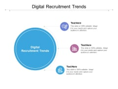 Digital Recruitment Trends Ppt PowerPoint Presentation Pictures Diagrams Cpb