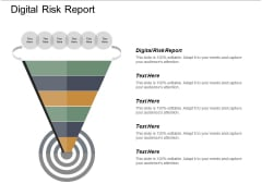 Digital Risk Report Ppt PowerPoint Presentation Inspiration Example Cpb