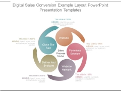 Digital Sales Conversion Example Layout Powerpoint Presentation Templates