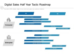 Digital Sales Half Year Tactic Roadmap Designs
