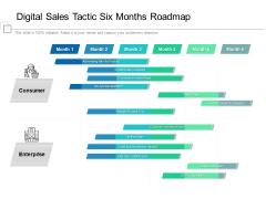 Digital Sales Tactic Six Months Roadmap Designs