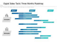 Digital Sales Tactic Three Months Roadmap Diagrams