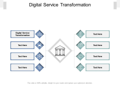 Digital Service Transformation Ppt PowerPoint Presentation Icon Example Topics Cpb Pdf