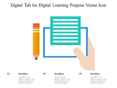 Digital Tab For Digital Learning Purpose Vector Icon Ppt PowerPoint Presentation File Styles PDF
