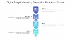 Digital Target Marketing Steps With Attract And Convert Ppt PowerPoint Presentation Gallery Example Introduction PDF