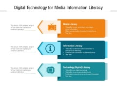 Digital Technology For Media Information Literacy Ppt PowerPoint Presentation File Guidelines PDF