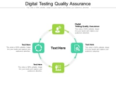 Digital Testing Quality Assurance Ppt PowerPoint Presentation Infographics Rules Cpb Pdf