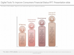 Digital Tools To Improve Consumers Financial Status Ppt Presentation Slide