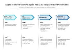 Digital Transformation Analytics With Data Integration And Automation Ppt PowerPoint Presentation File Diagrams PDF