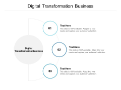 Digital Transformation Business Ppt PowerPoint Presentation File Files Cpb