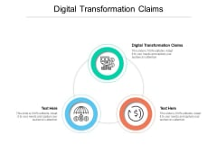 Digital Transformation Claims Ppt PowerPoint Presentation Slides Introduction Cpb Pdf