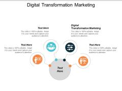 Digital Transformation Marketing Ppt PowerPoint Presentation Icon Example Cpb