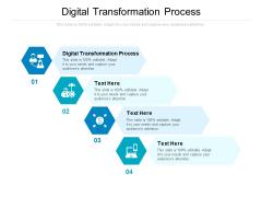 Digital Transformation Process Ppt PowerPoint Presentation File Ideas Cpb