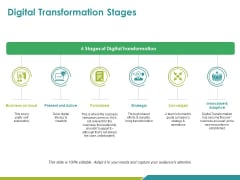 Digital Transformation Stages Ppt PowerPoint Presentation Summary Design Templates
