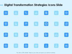 Digital Transformation Strategies Icons Slide Ppt Portfolio Example Topics PDF