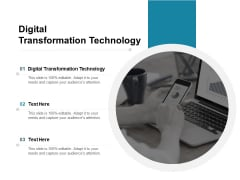 Digital Transformation Technology Ppt PowerPoint Presentation Layouts Picture Cpb