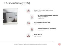 Digitalization Corporate Initiative E Business Strategy Product Ppt Summary File Formats PDF