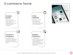 Digitalization Corporate Initiative E Commerce Trends Ppt Slides Shapes PDF