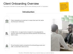 Digitization Of Client Onboarding Client Onboarding Overview Ppt Show Graphics Tutorials PDF