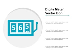 Digits Meter Vector Icon Ppt Powerpoint Presentation Inspiration Portfolio