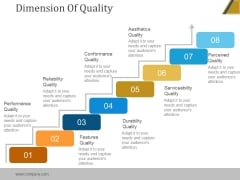Dimension Of Quality Ppt PowerPoint Presentation Example