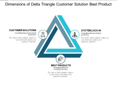 Dimensions Of Delta Triangle Customer Solution Best Product Ppt PowerPoint Presentation Pictures