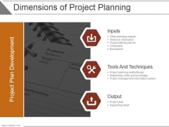 Dimensions Of Project Planning Ppt PowerPoint Presentation Styles