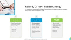 Diminishing Market Share Of A Telecommunication Firm Case Competition Strategy 2 Technological Strategy Infographics PDF