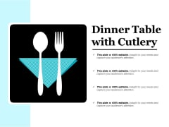 Dinner Table With Cutlery Ppt PowerPoint Presentation Styles Styles