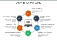 Direct Email Marketing Ppt Powerpoint Presentation Ideas Background Designs