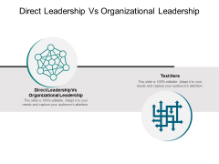 Direct Leadership Vs Organizational Leadership Ppt PowerPoint Presentation Professional Designs Cpb Pdf