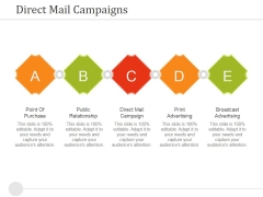 Direct Mail Campaigns Ppt PowerPoint Presentation Icon Shapes