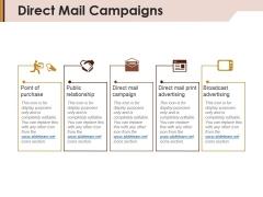Direct Mail Campaigns Ppt Powerpoint Presentation Portfolio Outline