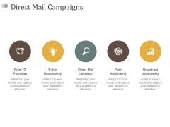 Direct Mail Campaigns Ppt PowerPoint Presentation Show Structure