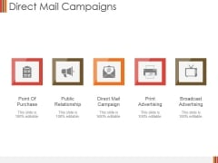 Direct Mail Campaigns Ppt PowerPoint Presentation Styles Inspiration