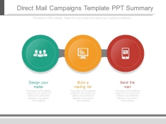 Direct Mail Campaigns Template Ppt Summary