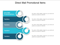 Direct Mail Promotional Items Ppt PowerPoint Presentation Slides Gallery Cpb