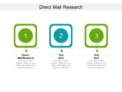 Direct Mail Research Ppt PowerPoint Presentation Pictures Introduction Cpb