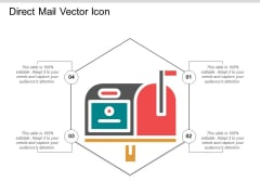 Direct Mail Vector Icon Ppt PowerPoint Presentation Pictures Show