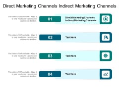 Direct Marketing Channels Indirect Marketing Channels Ppt PowerPoint Presentation Pictures Designs Cpb Pdf
