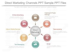 Direct Marketing Channels Ppt Sample Ppt Files