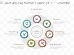 Direct Marketing Methods Example Of Ppt Presentation