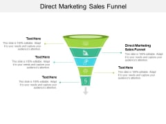 Direct Marketing Sales Funnel Ppt PowerPoint Presentation Inspiration Template Cpb