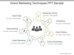 Direct Marketing Techniques Ppt Sample