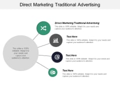 Direct Marketing Traditional Advertising Ppt PowerPoint Presentation Professional Deck Cpb